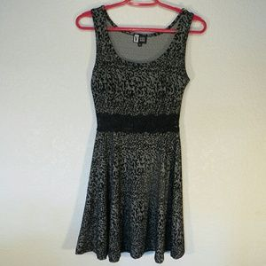 Vibe Sportswear Animal Print Sleeveless Dress Sz S
